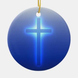 Gloeiend Kruis Rond Keramisch Ornament