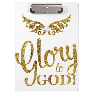 Glorie aan GOD! Het Goud van de Vleugels van de Klembord