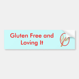 gluten-vrij-tarwe, Gluten die Vrij en van het houd Bumpersticker