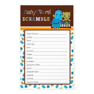 Gluur een Woord van het Spel van het Baby shower Folder