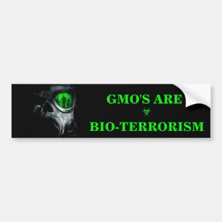 GMO IS DE STICKER VAN DE BUMPER VAN HET BUMPERSTICKER