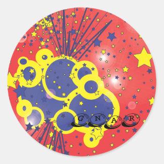gnar ronde sticker