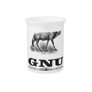 GNU macht Pitcher