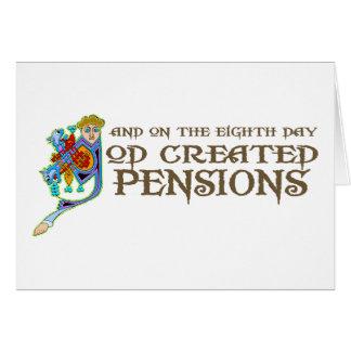 God Creëere Pensioenen Wenskaart