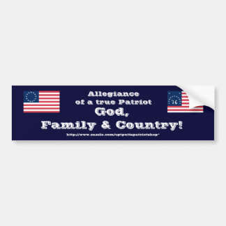 God, Familie & Land! Bumpersticker