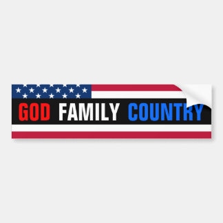 God, Familie, Land Bumpersticker