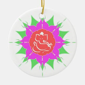 God Ganesha en bloem - Ornament