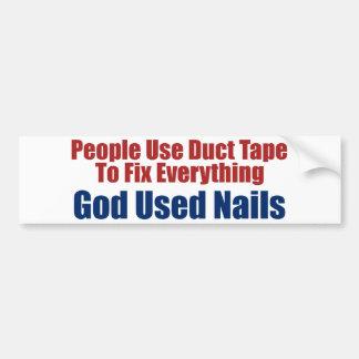 God Gebruikte Spijkers (de Christelijke Sticker