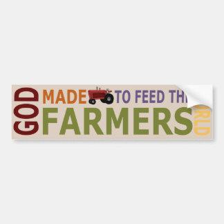 God Gemaakte Landbouwers om de Sticker van de Bump