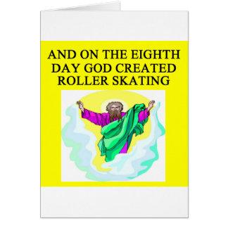 god het creëere rol schaatsen wenskaart