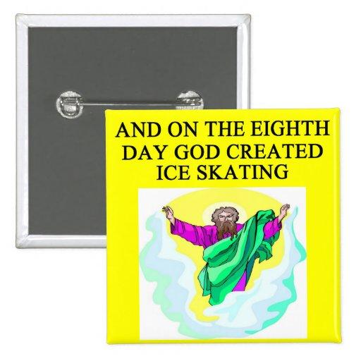 god het gecre?ërde ijs schaatsen buttons
