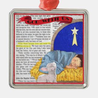 God met ons het Ornament van Kerstmis