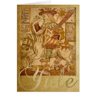 God Odin op zijn Kaart Sleipnir - Yule van het