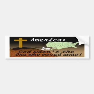 GOD VAN AMERIKA BEWOOG GEEN BS BUMPERSTICKER