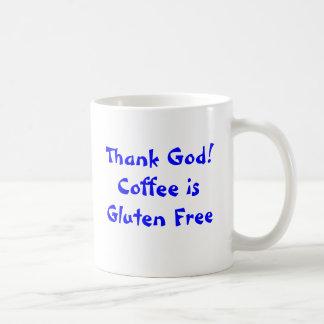 God zij dank! De koffie is Vrij Gluten Koffiemok
