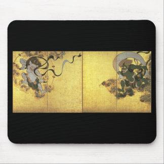 Goden van Wind en Donder, c. 1600's Japan Muismatten