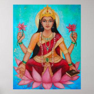 Godin Lakshmi - Originele kunst door Dori Hartley Poster