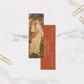 Godin van Bloesems en Bloemen, Flora door Morgan Mini Visitekaartjes