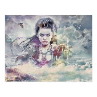 Godin van het Briefkaart van de Mythologie
