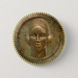 Godin van het Toestel van het Metaal van Steampunk Ronde Button 5,7 Cm