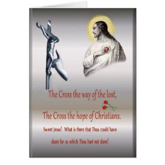 Godsdienstig kruis van het wenskaart van Christus,