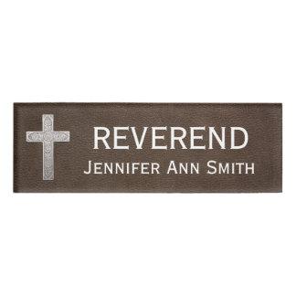 Godsdienstige Beleefdheids- Reverend Titel Naambadge