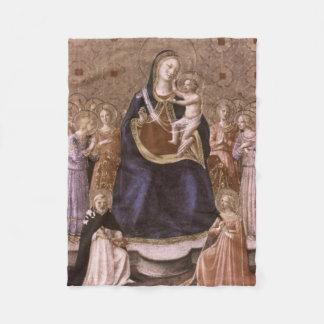 Godsdienstige moeder en Antiek Kleuren Bambino Fleece Deken