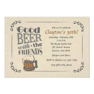 Goed Bier met de Uitnodiging van Vrienden 12,7x17,8 Uitnodiging Kaart