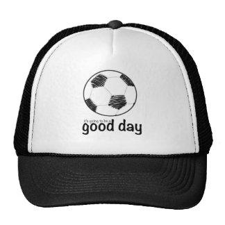 Goede dag voor voetbal pet met netje