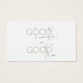 Goede Gezondheid, de Goede Kaart van de Visitekaartjes