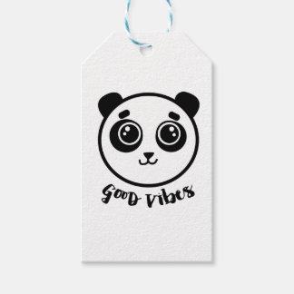 Goede Panda Vibes Cadeaulabel