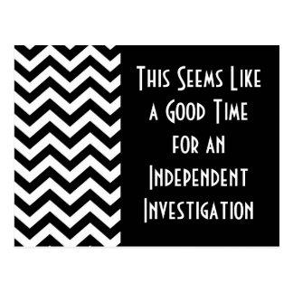 Goede Tijd voor een Onafhankelijk Onderzoek Briefkaart