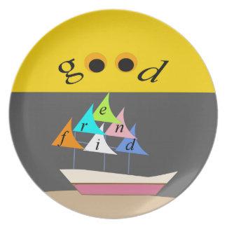 goede vriend ship1 melamine+bord