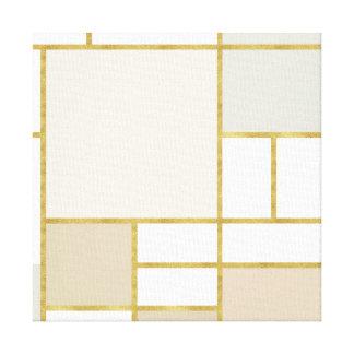 Gold DE Stijl | de Druk van het Canvas