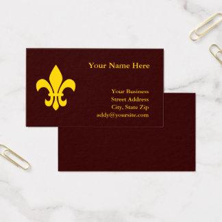 Gold Fleur DE Lis Visitekaartjes