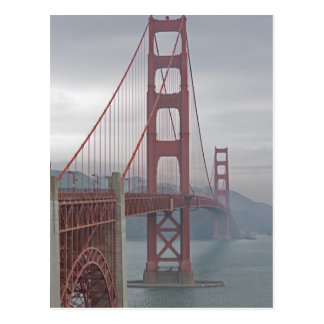Golden gate bridge in mist briefkaart