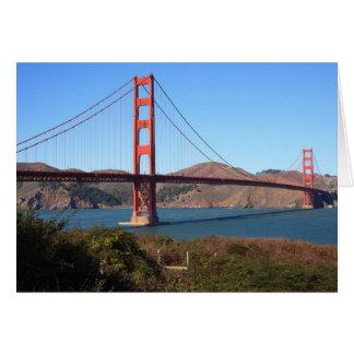 Golden gate bridge met de Kaarten van de Voorgrond