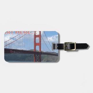 Golden gate bridge San Francisco Californië de Bagagelabel