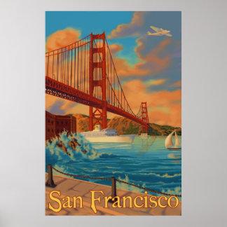 Golden gate bridge - San Francisco, het Poster van