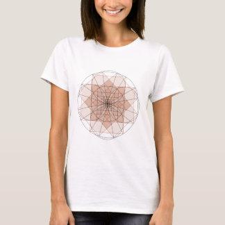 golden rechthoek flower t shirt