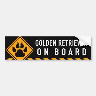 Golden retriever aan boord bumpersticker