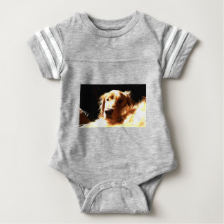 Golden retriever in Zonlicht Baby Bodysuit