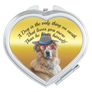 Golden retriever met een Citaat van de Hond van Makeup Spiegels