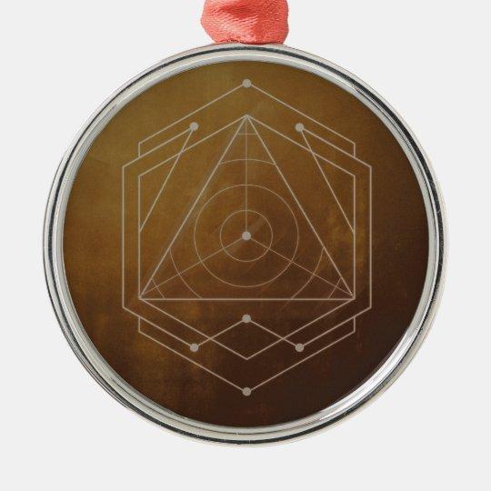 Goldish Zilverkleurig Rond Ornament