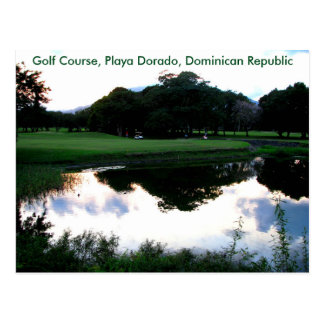 golf cursus in de Dominicaanse Republiek Briefkaart