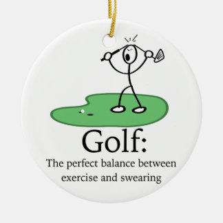Golf: Het perfecte saldo Rond Keramisch Ornament