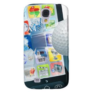 Golfbal die uit mobiele telefoon vliegen