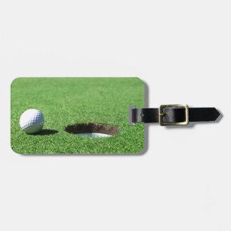 Golfbal en Gat Bagagelabel
