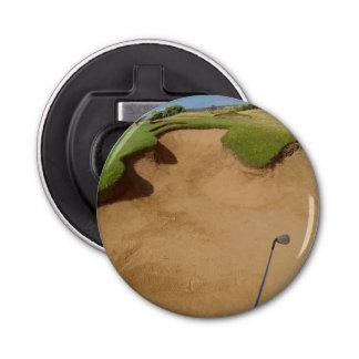 Golfbal in Bunker, Magnetische Flesopener Button Flesopener