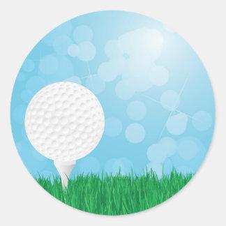 golfbal op gras ronde sticker